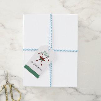 Bastón de caramelo - etiqueta de la etiqueta del etiquetas para regalos