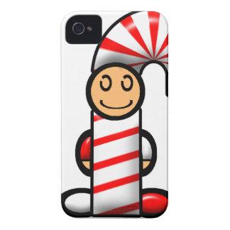 Bastón de caramelo (llano) iPhone 4 carcasa