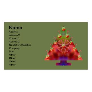 Bastón del Árbol-Caramelo del navidad Tarjetas De Negocios