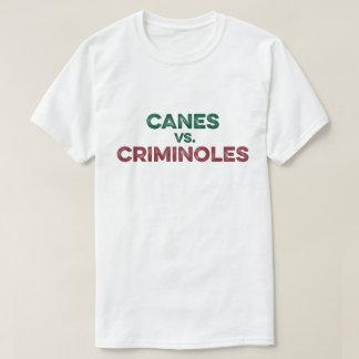 Bastones contra la camiseta de Criminoles