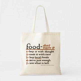 """""""Basura de la Comida-Don't él"""" la bolsa de asas"""