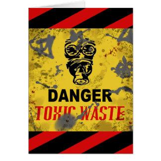 Basura tóxica de encargo divertida tarjeta de felicitación