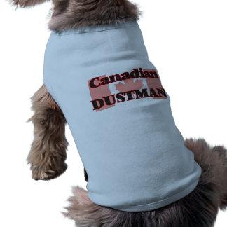 Basurero canadiense camiseta sin mangas para perro