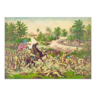 Batalla americana filipina de la guerra de Quingua Invitación 12,7 X 17,8 Cm