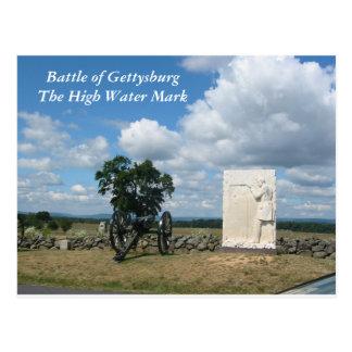Batalla de Gettysburg, postal de la marca de