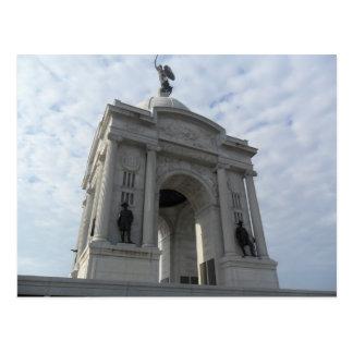 Batalla de la postal del monumento de Gettysburg