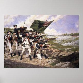 Batalla de Long Island, impresión del arte de la l Poster