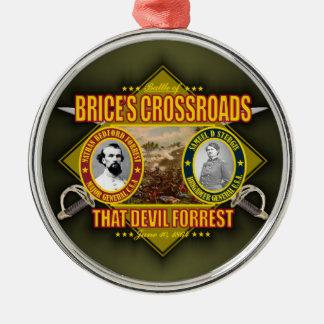Batalla de los cruces de Brice Adorno Navideño Redondo De Metal