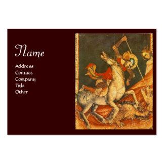 Batalla de s de San Jorge 'con el monograma del Tarjetas De Visita Grandes