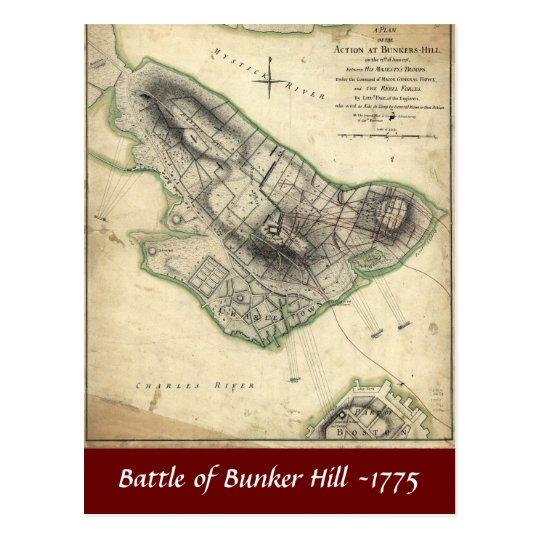 Batalla del Bunker Hill -1775 Postal