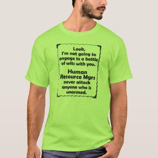 Batalla del director de recursos del ser humano de camiseta