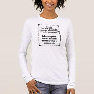 Batalla del encargado de los ingenios camiseta de manga larga