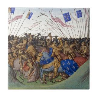 Batalla del Fontenoy-en-Puisaye en 841 de Jean Azulejo Cuadrado Pequeño