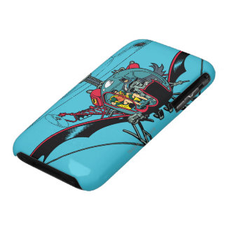 Batcopter iPhone 3 Case-Mate Protectores