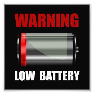 Batería baja fotografias
