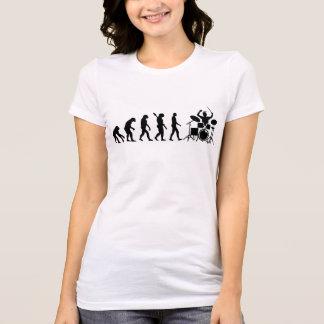 Batería de la evolución camiseta