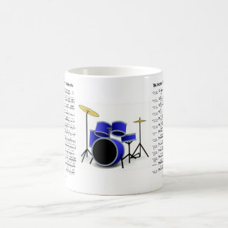 batería de los rudimentos taza de café