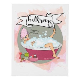 Bathroom time cuadro