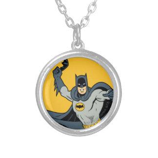 Batman Batarang Collar Plateado