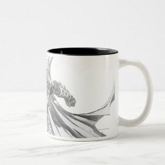 Batman con el dibujo del cabo taza de café de dos colores