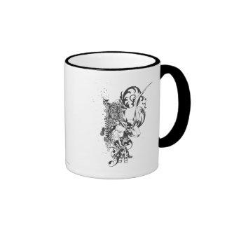 Batman con la letra adornada taza de café