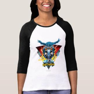Batman en ciclo con el logotipo camiseta