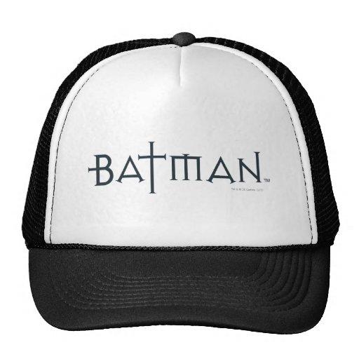 Batman en fuente diseñada gorros bordados