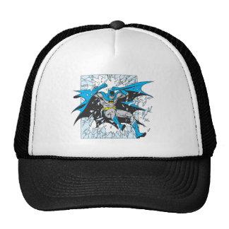 Batman estalla a través del vidrio gorras