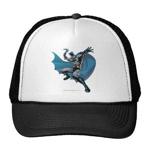 Batman listo para lanzar gorras de camionero