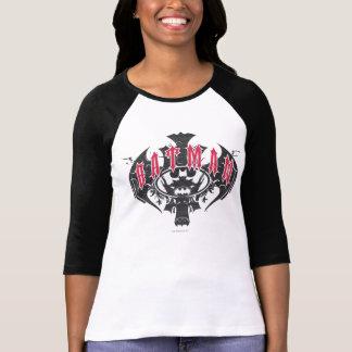 Batman logotipo rojo y negro del | camiseta