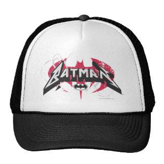 Batman logotipo rojo y negro del   gorros bordados