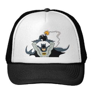 Batman que corre con la bomba gorras