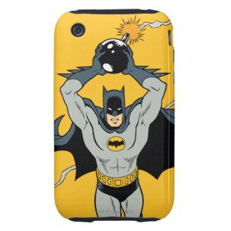 Batman que corre con la bomba tough iPhone 3 cárcasa