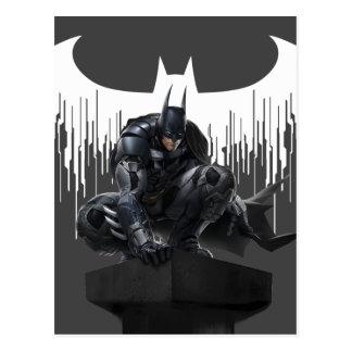 Batman se encaramó en un pilar postal