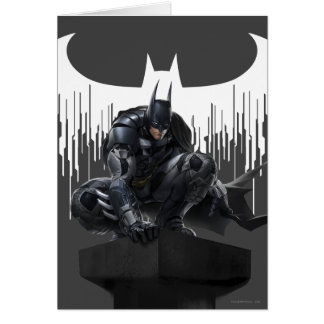 Batman se encaramó en un pilar tarjeta de felicitación