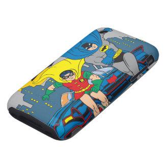 Batman y funcionamiento del petirrojo iPhone 3 tough carcasa
