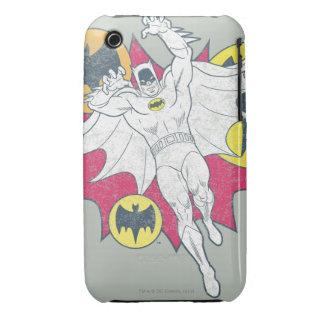Batman y gráfico del símbolo del palo iPhone 3 carcasas