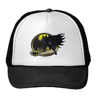 Batman y logotipo del círculo gorro