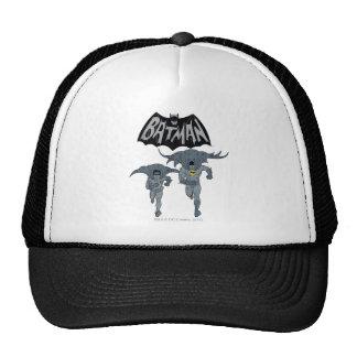 Batman y petirrojo con el gráfico apenado logotipo gorro de camionero