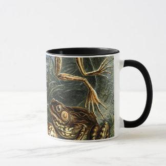 Batrachia de los sapos y de las ranas del vintage taza