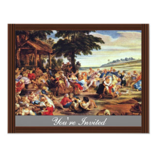 Bauer justo (feria flamenca) por Rubens Peter Paul Invitación 10,8 X 13,9 Cm