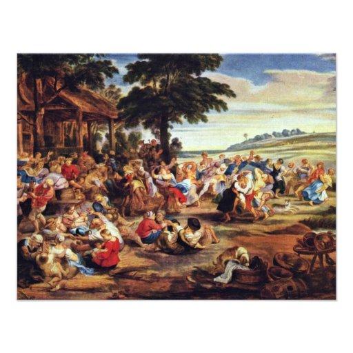Bauer justo (feria flamenca) por Rubens Peter Paul Invitacion Personal