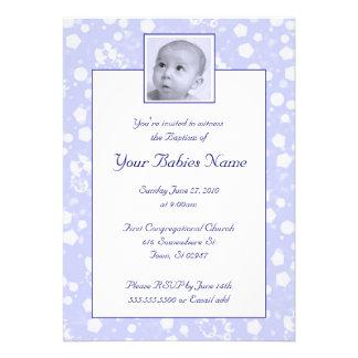 Bautismo/bautizo del muchacho comunicado personalizado