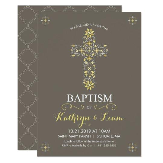 Bautismo, bautizo Invitatio, chica y o muchacho Invitación 11,4 X 15,8 Cm