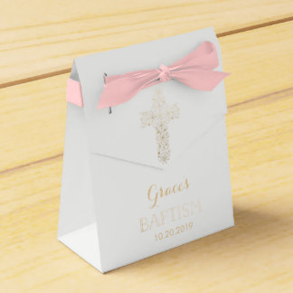 Bautismo, caja del favor del bautizo - chica, cruz