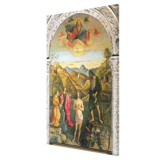 Bautismo de Cristo, Altarpiece de St. John Lienzo Envuelto Para Galerías