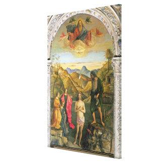 Bautismo de Cristo Altarpiece de St John Lienzo Envuelto Para Galerías