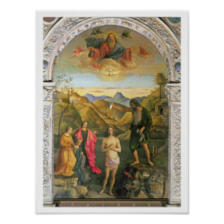 Bautismo de Cristo Altarpiece de St John Poster
