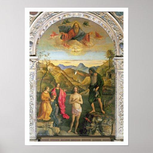 Bautismo de Cristo, Altarpiece de St. John Poster