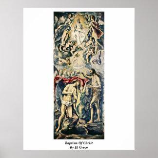 Bautismo de Cristo de El Greco Poster